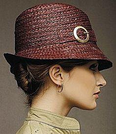 "Badgley Mischka ""Topsy"" Raffia Fedora Hat. #raffiabraid #judithm We carry raffia and other natural braids. Here is a link to the raffia, https://www.judithm.com/products/natural-raffia-braid-10-mm"