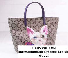 3925429b625 Gucci Children S GG Supreme Canvas Cat Tote Bag 410812 Purple 2016