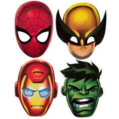 Máscaras escuadrón de súper héroes