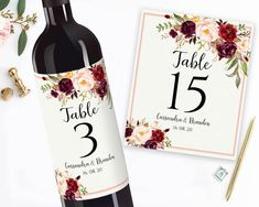 Printable Wedding Wine Labels Editable Wine Personalized Wine Label Printable Sticker Labels Custom Wine Labels Mr and Mrs Wine Bottle Label Personalized Wine Labels, Custom Wine Labels, Wine Tags, Wine Bottle Labels, Wine Gift Baskets, Basket Gift, Wedding Wine Labels, Printable Labels, Wedding Table Numbers