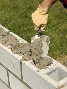 Mortar in holes