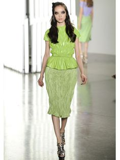 Rodarte  Sisters Kate and Laura Mulleavy were inspired by Vincent van Gogh  line green