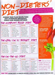 Non-dieters' diet