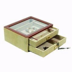Caja en piel y serraje para relojes y joyas. Tienda online. Envio 24 horas.