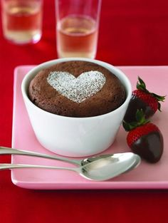An easy Ghirardelli chocolate soufflé recipe that makes a gourmet dessert for a romantic dinner for two, or for when you are entertaining guests.TIP: Once the soufflés are ready, dust with powdered su (Individual Chocolate Desserts) Hot Chocolate Sauce, Chocolate Souffle, Chocolate Pudding, Romantic Dinner For Two, Romantic Meals, Valentines Day Food, Valentines Recipes, Ghirardelli Chocolate, Chocolate Desserts