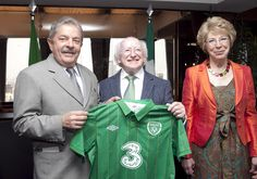 President of Ireland Michael D Higgins and his wife Sabina Higgins pictured in Sao Paulo, Brazil meeting with former President of Brazil Luiz Inácio Lula da Silva. Former President, Study Abroad, Science And Technology, Brazil, Presidents, Ireland, Campaign, Irish