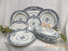 Vintage Wood & Sons Warwick Flow Blue China Dinnerware From $19.99 #WoodSons