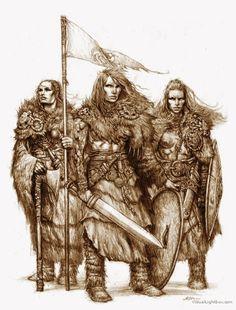z- Pictish or Viking Warriors-Shieldmaidens ('Drakar och Demoner Trudvang'- Swedish Game)