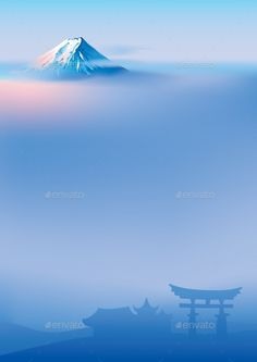 Buy Fuji and Torii by Koryaba on GraphicRiver. Vector illustration of sacred Japanese Torii gates and Fuji mountainFuji and torii Landscape Illustration, Watercolor Landscape, Monte Fuji Japon, Landscape Photography, Nature Photography, Cool Pictures, Cool Photos, Fuji Mountain, Japon Tokyo