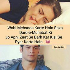 Shayariii... Love Quotes In Hindi, Best Love Quotes, True Quotes, Crazy Girl Quotes, Crazy Girls, Sad Words, True Words, When It's Love, Feriha Y Emir
