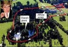 ... of the grave site and the island on which Princess Diana is buried