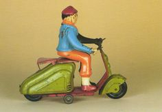 Museum Postcard Old Lihtographed Tin Lambretta Scooter Vespa Motorcycle Moto | eBay
