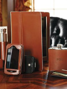 Lots of leather Father's Day gift ideas from Frontgate.