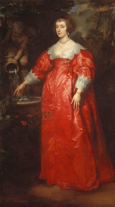 Sir Anthony van Dyck (1599-1641)  Portrait of an Unknown lady  1634-35 Oil on canvas | 208.3 x 118.1 cm (support, canvas/panel/str external) | RCIN 404399  Queen's Ball Room (State Apartments), Windsor Castle