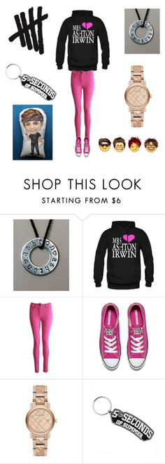 """5sos life "" by kindnesskey ❤ liked on Polyvore featuring Converse and Burberry"