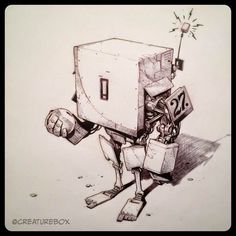 Awesome Robo!: Awesome-Robo Inktober Round-Up 2014!