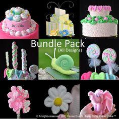 Topsy Turvy Diaper Cake Bundle Package All 62 Designs