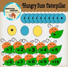 Download this FREE caterpillar clipart set to create a fun and easy way to teach addition! This clipart set comes with 10 blue spotted sections, 1 plus sign yellow section, 10 numbered heads, 1 blank head, 1 blank blue section, and 1 blank yellow sectionAll Winterpix Wonders clipart comes in 300 dpi and is in .png format.
