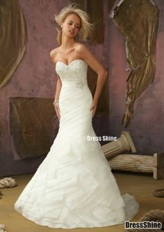 Wedding Dress - sweetheart neckline with bling