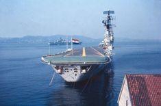 Karel Doorman at the port of Bergen. Photo provided by Jaap de Moor.