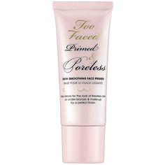Too Faced Primed & Poreless Skin Smoothing Face Primer: Shop Primer | Sephora $30