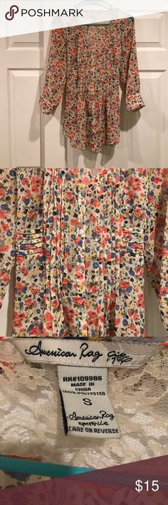 American Rag Blouse Chic. Fun. Statement . This American Rag Blouse is sure to help you make an impact no matter what the day has in store! Gently worn. ☺️🛍 American Rag Swim