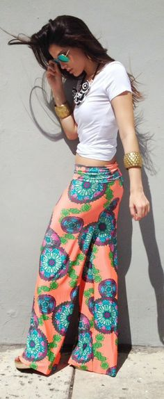 Coral Patterned Pant