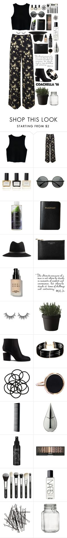 """""""Coachella Vibes"""" by styledbypr ❤ liked on Polyvore featuring Miss Selfridge, Balmain, Korres, Vera Bradley, Paul Smith, Aspinal of London, Bobbi Brown Cosmetics, Muuto, Alexander Wang and Forever 21"""