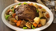 This Simple Cooking with Heart recipe for slow-cooked pot roast recipe is a heart-healthy and delicious way to get your family more vegetables!