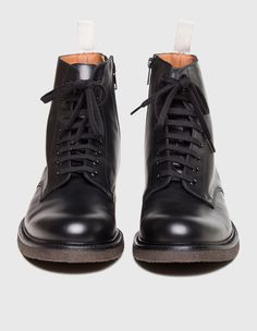 Common Projects Combat Leather Black   SOTO Berlin