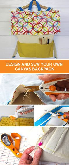 Why buy another backpack for the new school year when you can make one that's totally unique? This DIY tutorial explains how to create a canvas backpack just for the kids. Use colorful patterns or neutral fabrics to create the perfect bag personalized just for them, or even for you.
