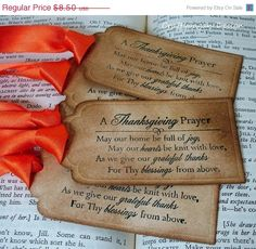 It would be easy to make bookmarks like this for a Thanksgiving leaders gift.