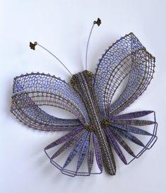 Lace Heart, Lace Jewelry, Bobbin Lace, Hand Fan, Lace Detail, Butterfly, Brooch, Butterflies, Jewels