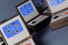pixel vision pocket sized portable wood gaming system designboom