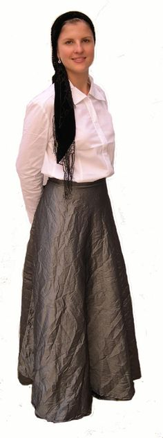 Jewish Women Clothing Chart Shimmery Wrap Skirt Modest Wear Dresses Outfits