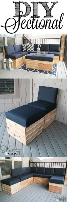 Easy to build modular seating! Mix and match to fit any space! Free Plans at shanty-2-chic.com #CraftsDIYSerendipity #crafts #diy #projects #tutorials Craft and DIY Projects and Tutorials