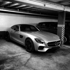 In the shadow it lurks.  #MBPhotoCredit: @flo.schluetter  #Mercedes #Benz #AMGGT #AMG #GT #instacar #carsofinstagram #germancars #luxury