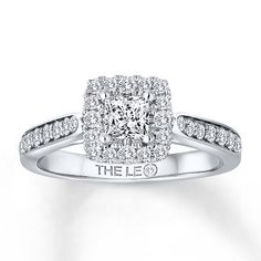 524d66658 Kay - Leo Engagement Ring 3/4 ct tw Diamonds 14K White Gold Leo Diamond