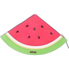 Pre-owned Kate Spade New York Splash Out Watermelon Clutch ($125) ❤ liked on Polyvore featuring bags, handbags and clutches