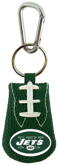 New York Jets Team Color Football Keychain