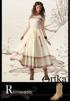 Artka Beautiful Turandot Embroidery / Maxi Swing Dress LA11242X