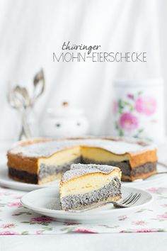 Poppy Eierschecke - Poppy Seed Cake Custard - Scroll down for the English recipe. Sweet Desserts, No Bake Desserts, Sweet Recipes, Custard Desserts, Custard Cake, Vanilla Cream Filling Recipe, Cake Cookies, Cupcake Cakes, Cupcakes