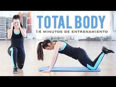 TOTAL BODY: TONIFICA TU CUERPO | Ideal para principiantes 14 minutos Body Training, Total Body, Fitness Nutrition, Flat Belly, Hiit, Workout Videos, Gym Workouts, Pilates, Fitspo