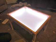 Ikea Hack Diy Light Table Children Play And Learn Pinterest