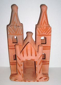 Handmade-Mexican-Clay-Art-Pottery-Mission-Church-13-Mexico  I have one I bought in Mexico!