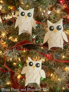 Give a hoot. Owl Christmas tree, great for Kennesaw State University students!