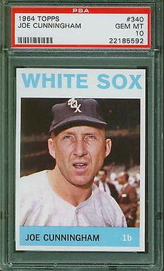 1964 Topps Baseball Joe Cunningham #340 PSA 10 WHITE SOX GEM MINT POP 4 #PSA10
