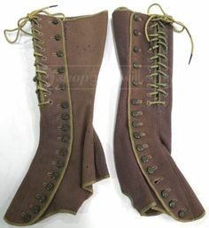 Vintage corsetted gaiters