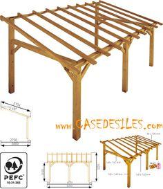 Abri terrasse bois à Prix Cassé : Abri de terrasse bois 15mc Sherwood