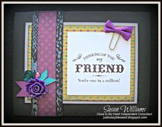 Just Crazy Blessed CTMH Close to My Heart Laughing Lola w/ Base & Bling Embellishments